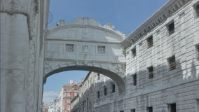 Bridge of Sighs in Sun and Shade stock video