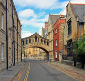 Bridge of Sighs and surrounding houses, oxford Royalty Free Stock Photo