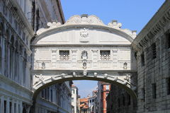Bridge of Sighs in Venice Stock Image