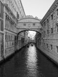 Bridge of Sighs in Venice in black and white Stock Photos