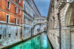 Bridge of sighs in Venice in hdr Stock Photo