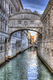 Bridge of Sighs. The Bridge of Sighs in Venice is historically important because it was the place where the prisoners were passing before being executed Stock Photo