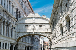 The Bridge of Sighs in Venice Stock Images