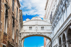 The Bridge of Sighs in Venice Stock Photography