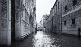 The Bridge of Sighs in Venice Italy artistic conversion Royalty Free Stock Photography