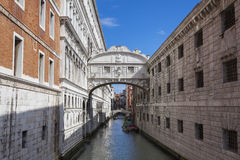Bridge of Sighs in Venice - Italy Stock Images