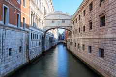 Bridge of Sighs Venice Italy, near Piazza San Marco Stock Images