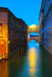 Bridge of sighs in Venice, Italy Royalty Free Stock Photography