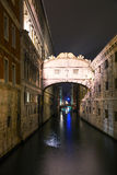 Bridge of sighs in Venice, Italy Stock Images