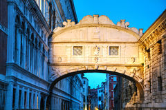 Bridge of sighs in Venice, Italy Stock Image