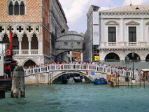 The Bridge of Sighs in Venice Italy Royalty Free Stock Photo