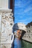 Bridge of sighs in Venice, Italy Stock Photos