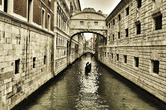 Bridge of Sighs in Venice, Italy Stock Photography