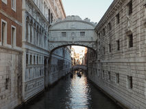 Bridge of Sighs in Venice. Ponte dei Sospiri (meaning Bridge of Sighs) in Venice, Italy Royalty Free Stock Photos