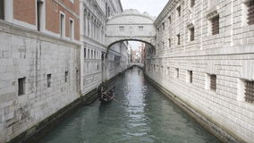 Bridge of Sighs Venice stock video
