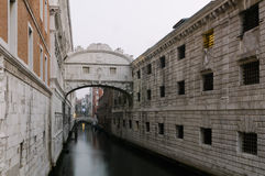 Bridge of Sighs in Venice, Veneto, Italy, Europe Royalty Free Stock Images