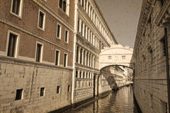 Bridge of Sighs in vintage tone Royalty Free Stock Images
