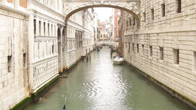 Bridge of Sights in Venice. Italy stock footage
