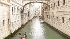 Bridge of Sights in Venice stock footage
