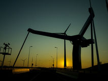 Bridge silhouet against blue sky Stock Photography