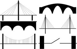 Bridge silhouette  Royalty Free Stock Photography