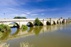 Bridge in Simancas Royalty Free Stock Photos
