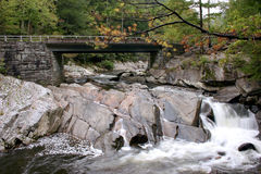Bridge at The Sinks . Bridge at The Sinks waterfall. Great Smoky Mountains National Park royalty free stock photo