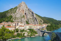 Bridge in Sisteron, France Royalty Free Stock Photography