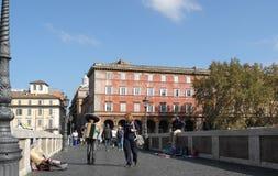 The bridge Sisto in Rome Royalty Free Stock Photos