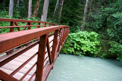Bridge on the Skagway river, Alaska Royalty Free Stock Images