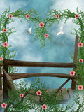 Bridge in the sky Royalty Free Stock Image