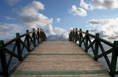 Bridge in the sky Stock Photography