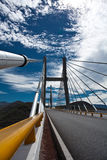 Bridge, sky, clouds. Bridge on highway Acapulco-Mexico, Guerrero, Mexico Royalty Free Stock Images