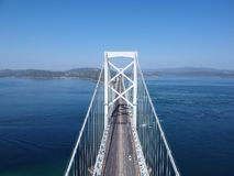 Bridge from the sky in Japan stock photography