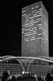 Bridge and Skyscraper - Cityscape at Night Royalty Free Stock Photo