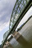 Bridge between Slovakia and Hungary. Bridge Maria Valeria between Slovakia and Hungary on the border stock photos