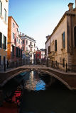 Bridge of the small canal in venice Royalty Free Stock Photo