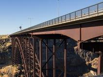 Bridge of Snake River. Large highway bridge over the Snake River in Twin Falls, Idaho stock image