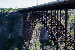 Bridge of Snake River. Large highway bridge over the Snake River in Twin Falls, Idaho royalty free stock images