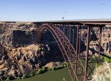Bridge of Snake River. Large highway bridge over the Snake River in Twin Falls, Idaho royalty free stock image