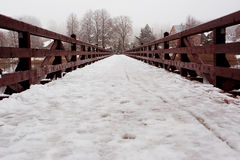 Bridge with snow Stock Photography