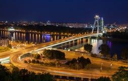 Bridge SNP at Bratislava, Slovakia Stock Photos