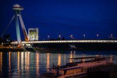 Bridge SNP at Bratislava, Slovakia Royalty Free Stock Image