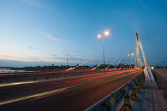 bridge solnedgångswietokrzyskien Arkivbild