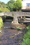 Bridge in Somerset, UK. Bridge over the stream in Allerford, Somerset, UK Stock Photo