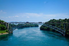 Bridge. Somewhere in Japan with a river and bridge Royalty Free Stock Photo