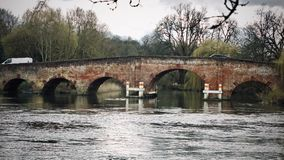 Bridge in Sonning Village. Nice old brick bridge in Sonning. Outdoor concept. Reading area royalty free stock photo
