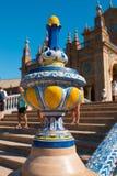 Bridge Spain Square, Plaza de Espana, Sevilla. Andalusia, Spain stock photo