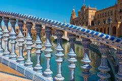 Bridge Spain Square, Plaza de Espana, Sevilla. Andalusia, Spain royalty free stock photo