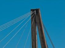 Bridge span. The top of a bridge under a blue sky Royalty Free Stock Photo